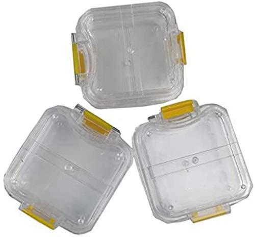WZ Caja De Dientes De Membrana Transparente Hecha A Mano con Película Herramienta Dental Corona De Dentadura/Caja De Puente para Laboratorio Dental, 50 Piezas