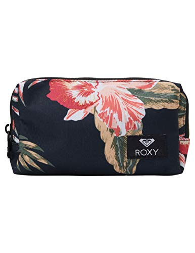 Roxy Women's Pipeline Pencil Case Pouch, anthracite castaway floral, One Size