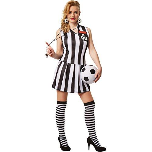 dressforfun Disfraz para mujer Árbitro | Disfraz completo sin mangas con escote en V profundo y bolsillo en el pecho cosido (S | no. 301804)