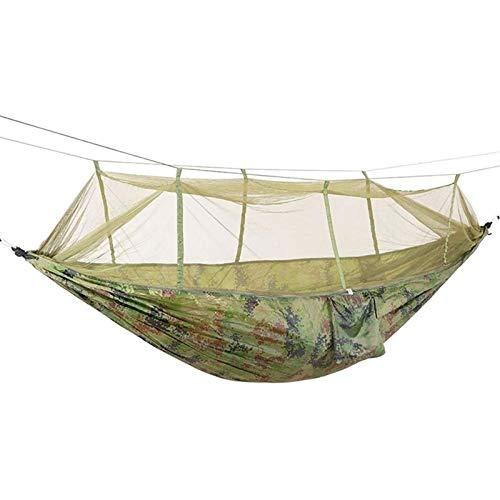 TYUIOO Hamaca 1-2 Persona Portátil Al Aire Libre Camping Hamaca con Tela de paracaídas de paracaídas Mosquitera Cama Colgante Caza Swing Swing (Color: Ejército Verde) (Color : Camouflage)