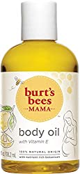 Image: Burt's Bees 100% Natural Mama Bee Nourishing Body Oil, 4 Fl Oz