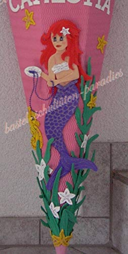 Generisch Bastelanleitung Meerjungfrau lila (nur Motiv)