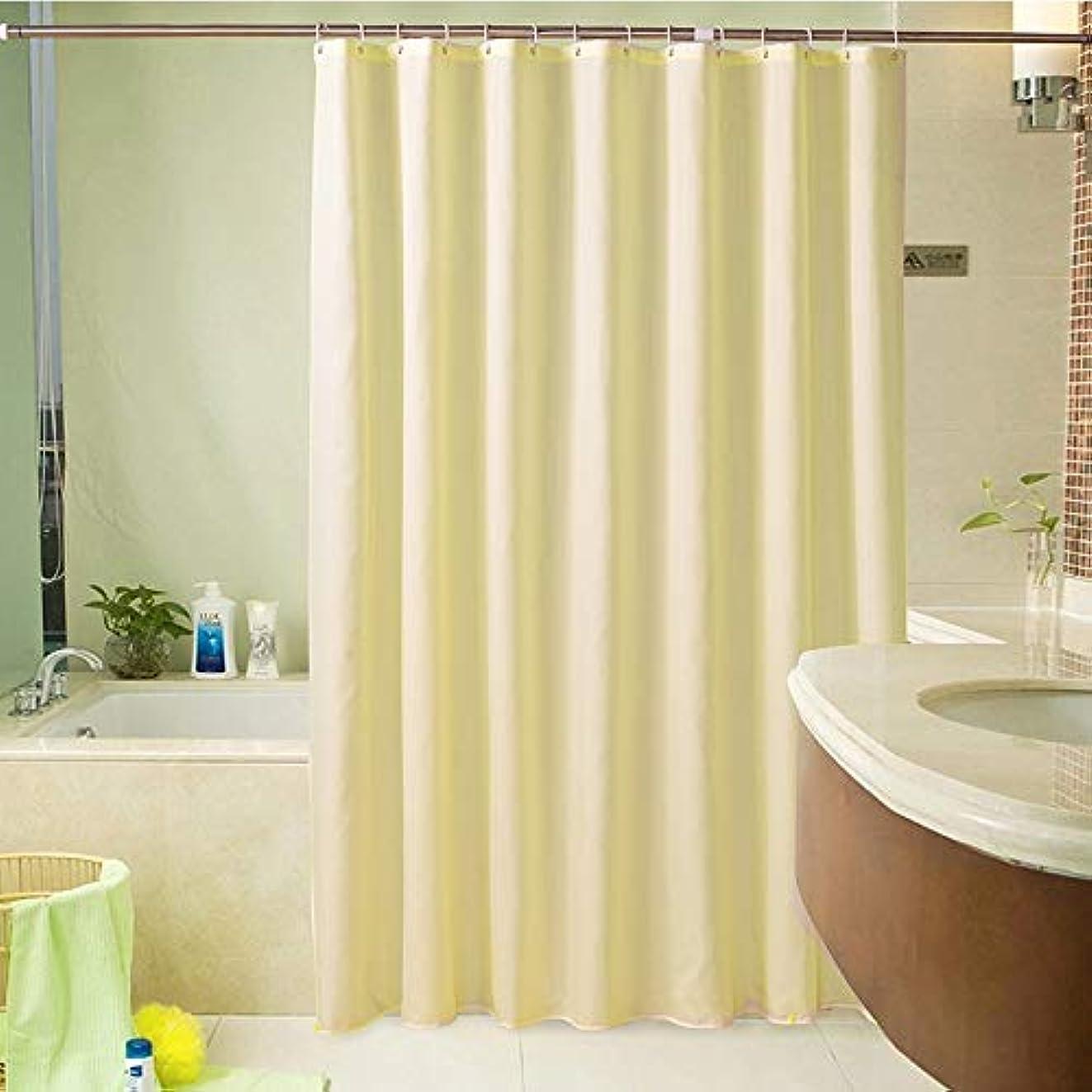 やむを得ないコードレス割り当てSubeiのホテルのホテルのシャワーカーテンポリエステルは防水カーテンを厚くしました (色 : 200*180)