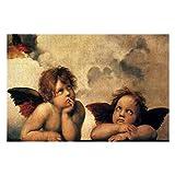 Sixtina Madonna Angels por Raphael Sanzio Puzzles para adultos, 1000 piezas de rompecabezas para niños, regalo para niños y niñas, 50,8 x 76,2 cm