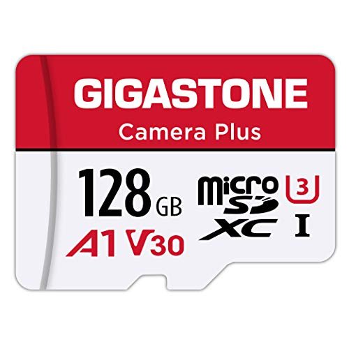 Gigastone 128GB Micro SD Card, Camera Plus, A1 Run App for Smartphone, Nintendo Switch Compatible, High Speed 100MB/s, 4K Video Recording, Micro SDXC UHS-I A1 Class 10