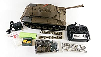 LATEST VERSION! - UPGRADED Dual Sound 2.4GHZ Heng Long Smoke & Sound - BB Firing M41A3 Walker Bulldog Radio Control Army Military Battle Tank Model