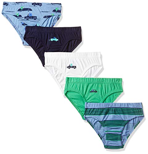 Mothercare Car Briefs-5 Pack Set di Biancheria Intima, Multicolore (Dark Multi 195), 3-4 Anni Bambino