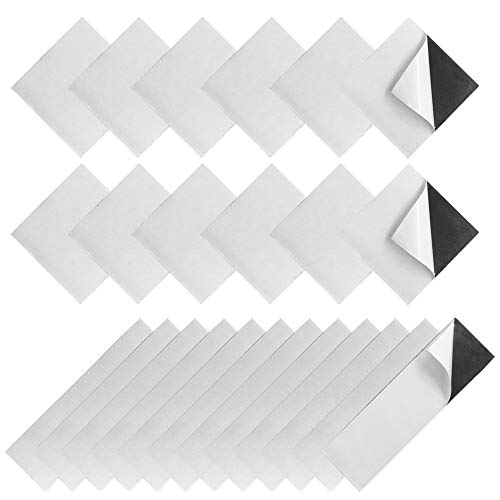 24 pcs Self Adhesive Mounting Tapes, FineGood Double Sided Hook Loop Removable Sticky Tapes Back Fasteners - 1.2