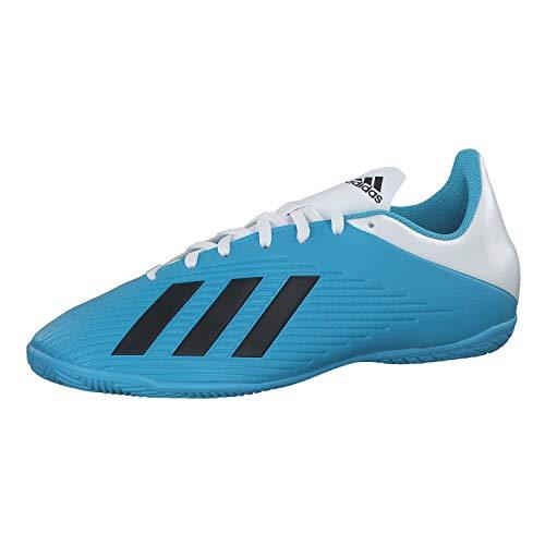 adidas Herren Fussballschuhe X 19.4 IN BRCYAN/CBLACK/SHOPNK 40 2/3