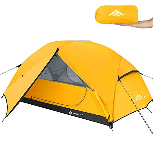 Forceatt Tent 3 Person Camping Tent, Waterproof and Windproof 3-4 Seasons Ultralight Backpack Tent,...
