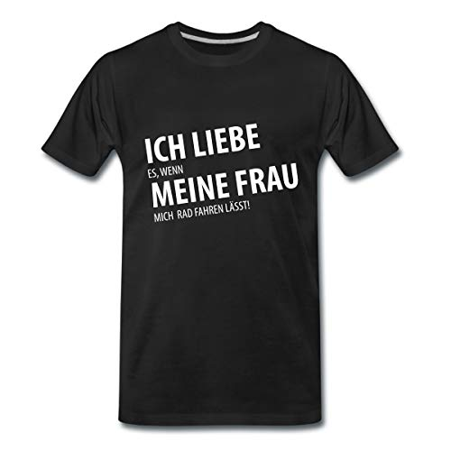 Ich Liebe Meine Frau Rad Fahren Spruch Männer Premium T-Shirt, 5XL, Schwarz