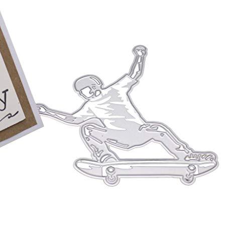 Skateboard Boy Metall Stanzformen Schablone DIY Scrapbooking Album Stempel Papier Karte Präge Decor Craft