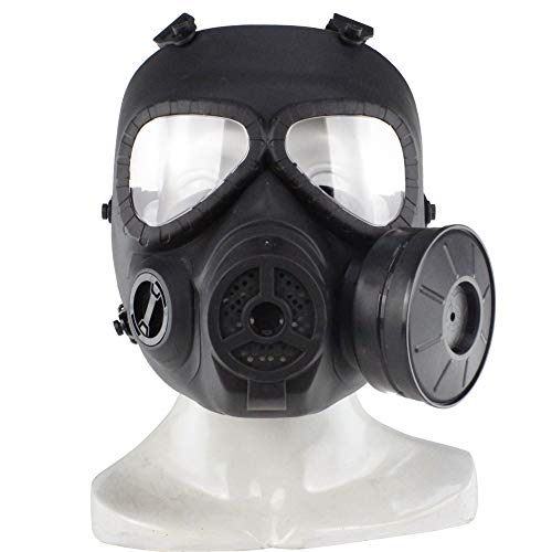 Huenco Tactical Dummy Gas Mask Paintball Full Face Skull CS Mask for Cosplay Protection Halloween Masquerade