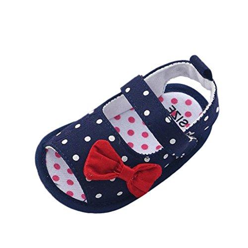 Zapatos Bebé Prewalker Verano Xinantime Sandalias bebé Niña Bebé Zapatos Princesa Bowknot - Zapatos de Vestir (9-12 Meses, Azúl)