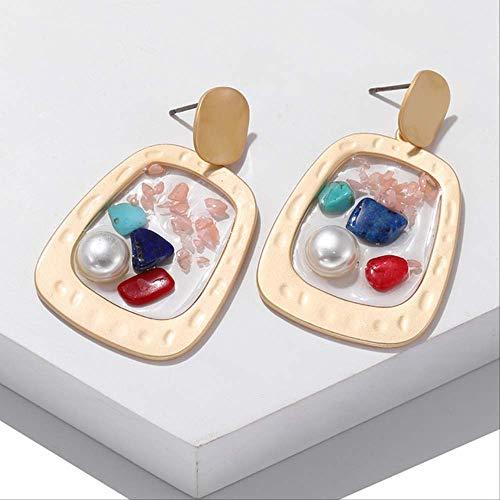 Dames oorbellen sets hoepels eenvoudige metalen cirkel oorbellen voor vrouwen geometrische ketting opknoping bengelen oorbellen dames partij sieraden cadeauez328-2