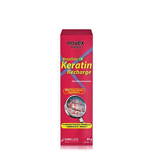 Novex Recarga de Queratina Brasileña 80gr - Brazilian Keratin - Sin sal, sin parabenos, sin sulfatos, sin siliconas