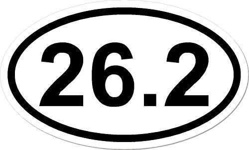 262 I Make Decals Oval Marathon Run Car Bumper Window Sticker 3 x 5 inch Euro Oval  Runner Running Race Marathon Vinyl Sticker Decal