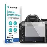 smartect Cristal Templado para Móvil Nikon D3100 / D3200 / D3300 / D3400 [2 Unidades] - Protector de pantalla 9H - Diseño ultrafino - Instalación sin burbujas - Anti-huella