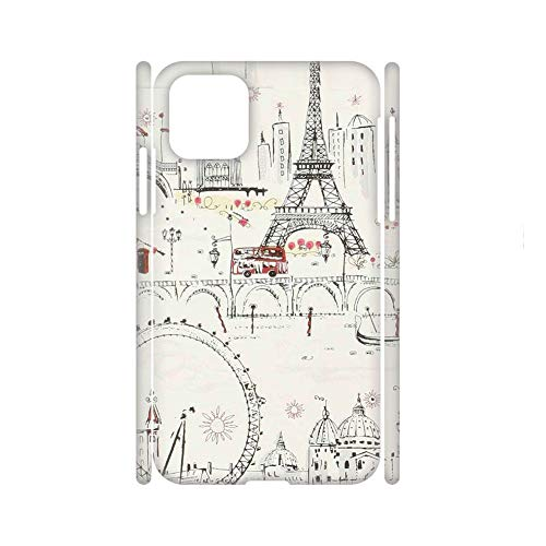 no-branded Phone Shell Hard Plastic Fascinating For Huawei P40 Pro For Boys Print Eiffer Tower Stamp 1 Choose Design 33-4