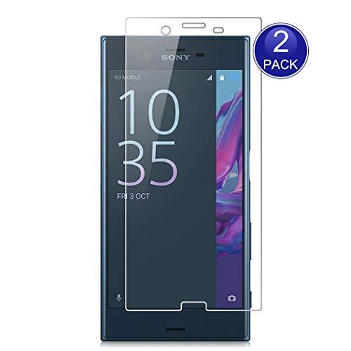 X-Dision [2 Stück Bildschirmschutzfolie für Sony Xperia XZ, 0,26 mm HD Schutzfolie, 9H Glas Schutzhülle, Anti-Kratz & Anti-Fingerabdruck (Hinweis: Nicht vollständig abgedeckt)