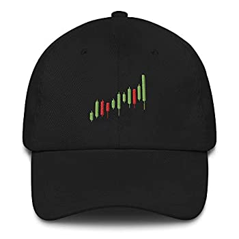 Stock Market Dad Hat Candle Trader Charts Options Forex Crypto Investing Cryptocurrency Trading Bull Cap Black