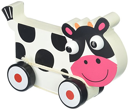 Imagination Generation Wooden Wonders Push-n-Pull Spotted Cow Toy