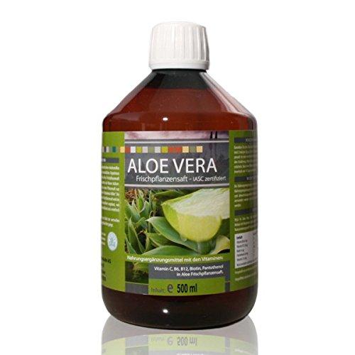 Medicura Aloe Vera Frischpflanzensaft 99.6% - 500 ml PET-Flasche