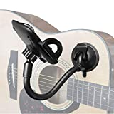 Phone Holder for Guitar, ALLICAVER Removable Suction Cup Phone Holder for Acoustic Electric Classical Guitar