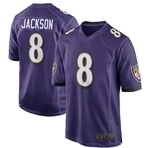 DamonRHalpern Jersey de fútbol americano al aire libre Jackson Jersey personalizado secado #8 púrpura camiseta