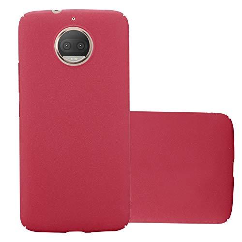 Cadorabo Funda para Motorola Moto G5S Plus en Frosty Rojo - Cubierta Protección de Plástico Duro Super Delgada e Inflexible con Antichoque - Case Cover Carcasa Protectora Ligera