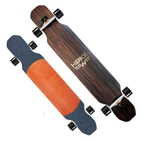 Fantastic Deal! XUEYING-KickScooter Skateboard Professional Bamboo Wood Longboard Adult Brush Street...