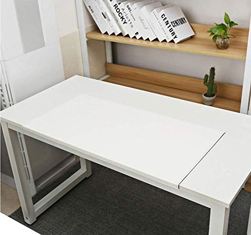 Almohadillas de piel sintética para escritorio, blotter y protector de escritorio, tapete para mouse de piel grande, alfombrilla de escritorio para juegos, para el hogar, la oficina, escritorios y ordenadores portátiles, color blanco 60x30cm