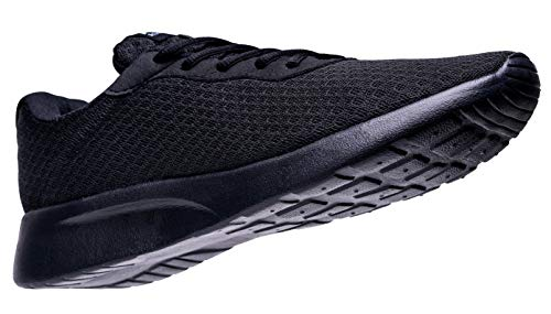 AONVOGE Running Shoes Men Lightweight Casual Sports Breathable Athletic Tennis Workout Walking Gym Sneakers,All Black,Size 10 44