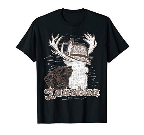 Trachten Shirt Lausbua mit Hirsch und Steirischer