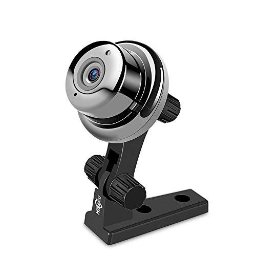 Mini Babyphone, WiFi Baby Audio Monitor, 720P Nachtsichtgerät 360 Grad Panorama Home Security Kamera - Schwarz