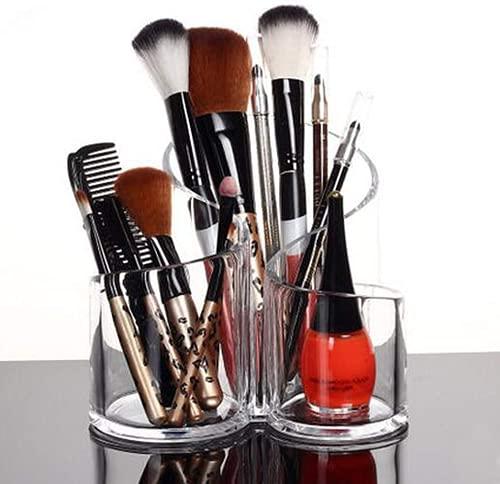 Demarkt Angement Maquillage Rangement Pinceaux en Acrylique Transparent pour Pinceaux Rouge à Lèvres Mascara Crayon à Sourcils