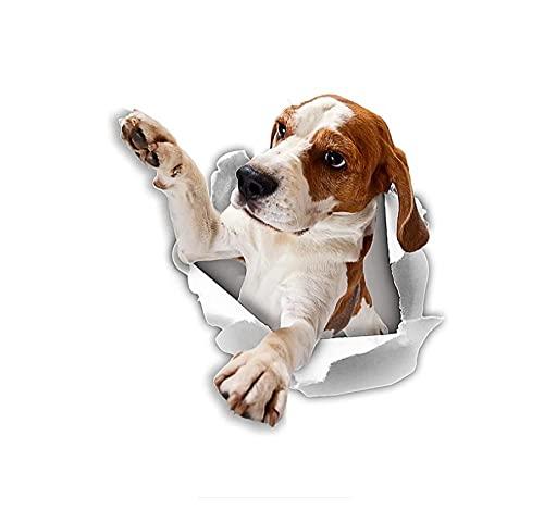 MDGCYDR Adesivo per Auto Cane Adesivi per Cani 3D da 8 Cm per La Finestra della Cabina del Frigorifero della Parete della Scuola Materna