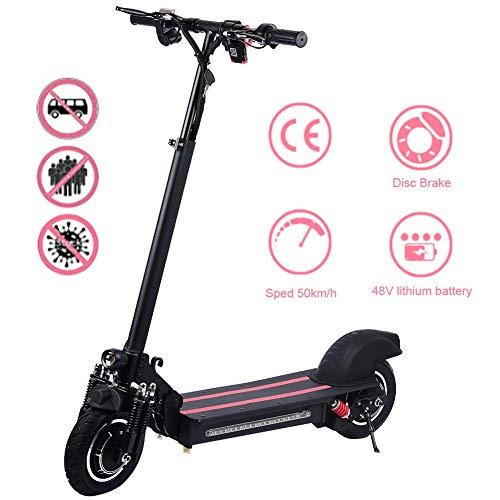 windyday Elektroroller Faltbar E-Scooter Erwachsene LED E-Roller Bis 45 Km/h, 1200W Motor, Belastung 120 Kg, 10 Zoll Leichte Elektroscooter Mit Vorderen Und Hinteren Rückleuchten