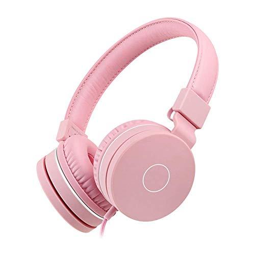 Auriculares inalámbricos estéreo de gama alta sobre oído, tiempo de juego con bajos profundos, orejeras de proteína de memoria suave, Modo incorporado Modo por cable PC / Teléfonos celulares / TV (Col