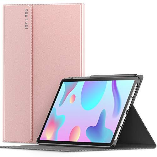 INFILAND Coque pour Samsung Galaxy Tab S6 Lite 10.4 (P610/P615) 2020, Housse Coque de Protection Multi-Angle et Veille/Réveil Automatique, pour Tab S6 Lite 10,4 Pouces,Rose Or