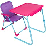 Table-Mate 4 Kids Folding Desk and Chair Set for Eating, Art & Activities for Toddlers and Children with Portable Carry Case (Pink/Purple/Turquoise)