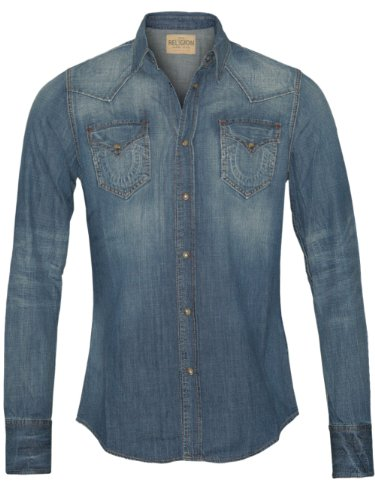 True Religion Herren Designer Jeans Hemd Shirt - Jake -S