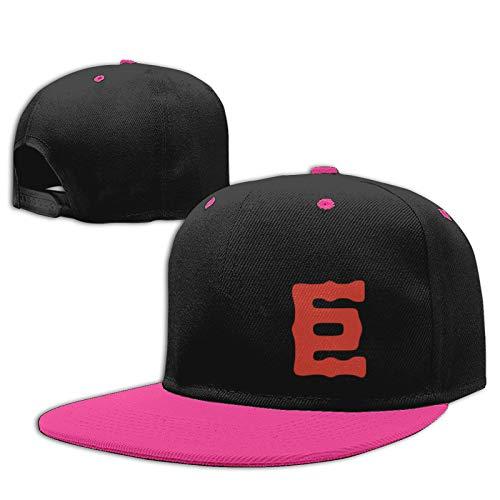 Jiso-Bag コントラスト ヒップホップ ベースボール キャップ 東京ジャイアンツ野球 Pink 帽子 野球帽 平つば 硬つば 長つば スナップボタン メンズ