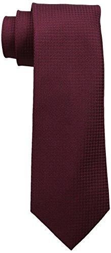 Calvin Klein -Corbata textura de cuadros, para hombre, Violeta, Unitalla