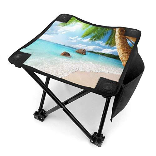 End Nazi Tabouret de Camping chaises Pliantes Palmier Blue Water Beach Siège de Chaise Portable