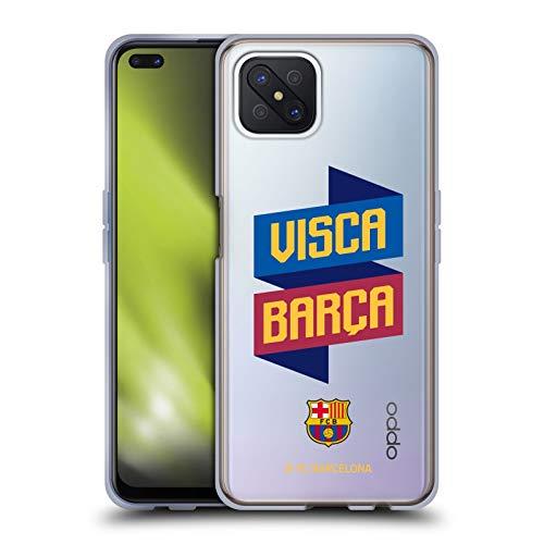 Head Case Designs Licenciado Oficialmente FC Barcelona Visca Forca Barca Carcasa de Gel de Silicona Compatible con OPPO Reno4 Z 5G