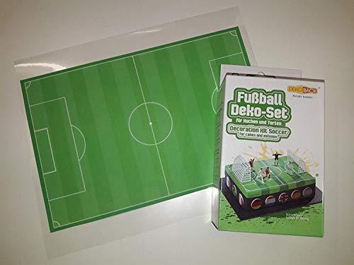 Tortenaufleger Fußballfeld mit Deko-Set