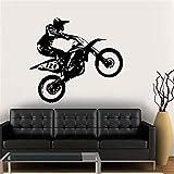 BailongXiao Wandaufkleber Vinylaufkleber Motocross Home Decoration Wandaufkleber Dekorative Wandaufkleber