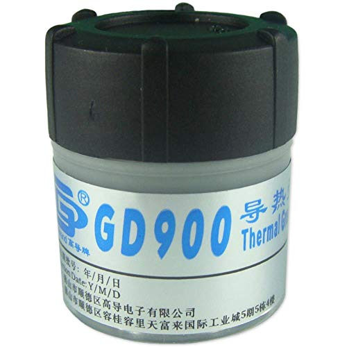30g Gray Nano GD900 Containing Silver Thermal Conductivity Grease Paste Silicone Heat Sink Compound 4.8W/M-K for CPU