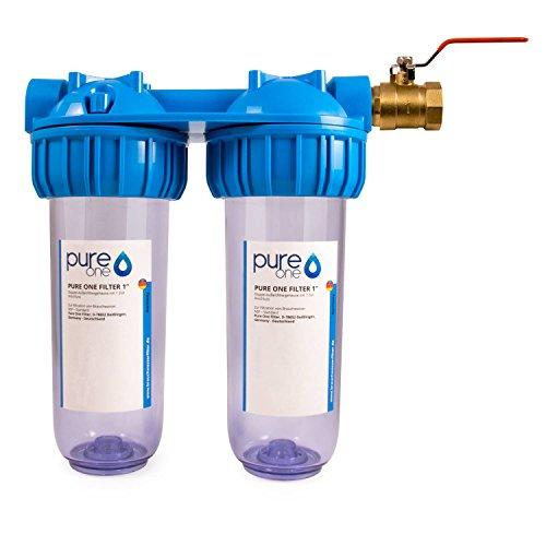 PureOne Doppel Filtergehäuse - Leergehäuse 10 Zoll mit 1